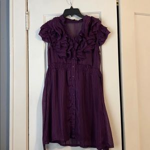 Ruffled purple dress
